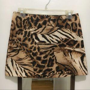 90s Y2K Animal Print Mini Skirt by XOXO